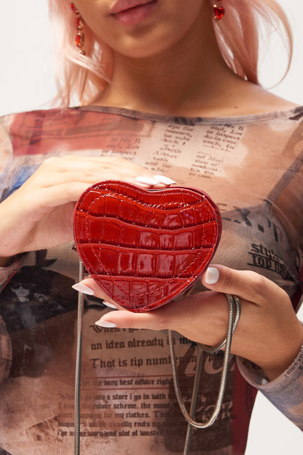 Mini Red Heart Bag
