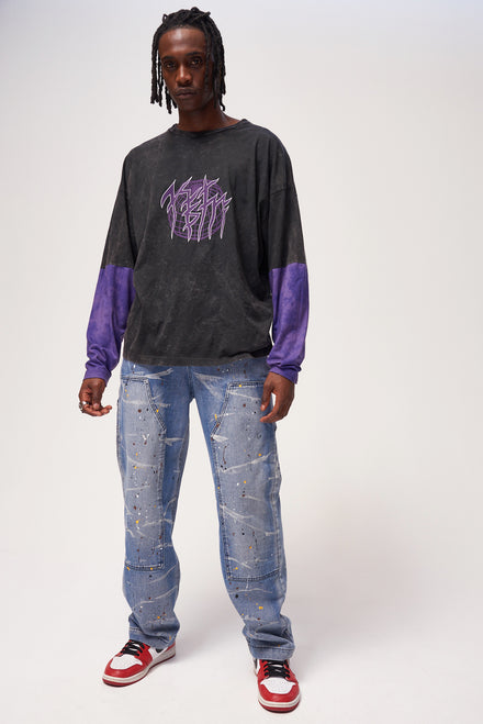 Paint Splatter Carpenter Jeans
