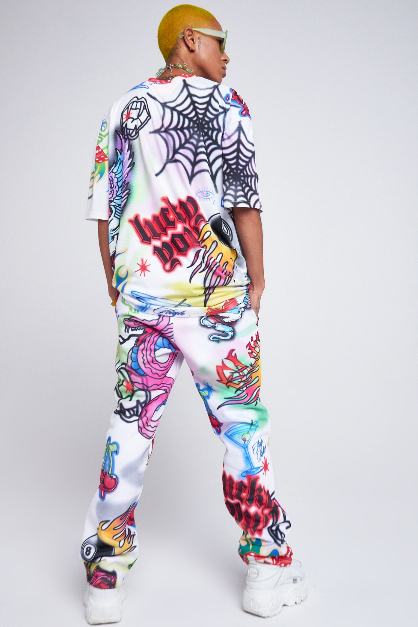 Parallel Spray Paint Print Joggers