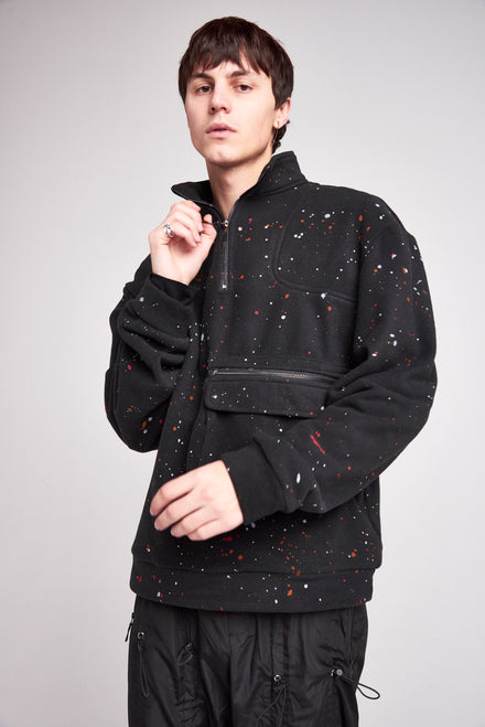 Paint Splatter Pullover Fleece