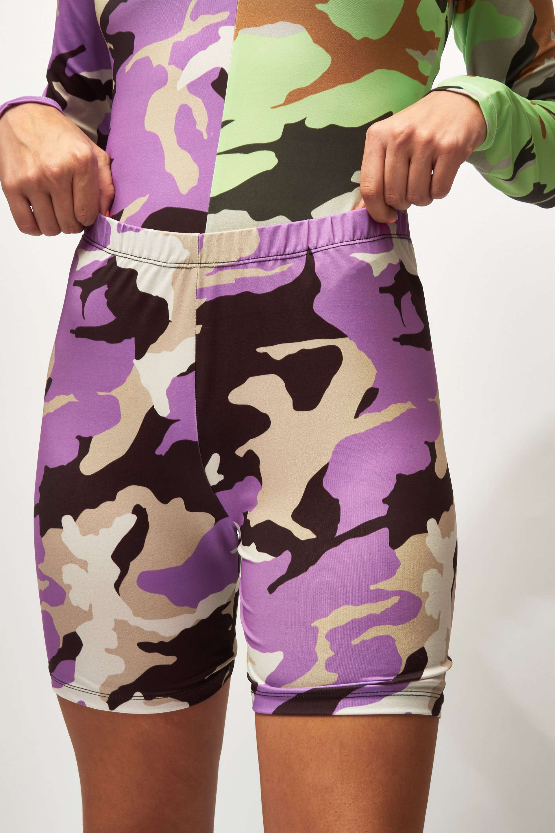 Camo Print Cycling Shorts