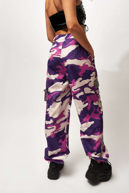 Purple Camo Utility Combat Trousers