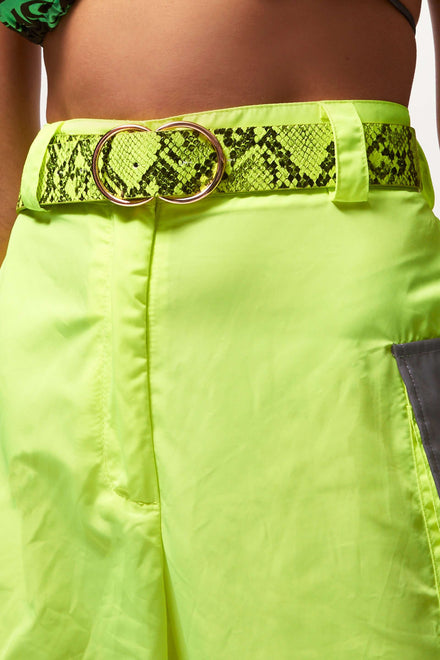 Neon Green Snakeskin Belt