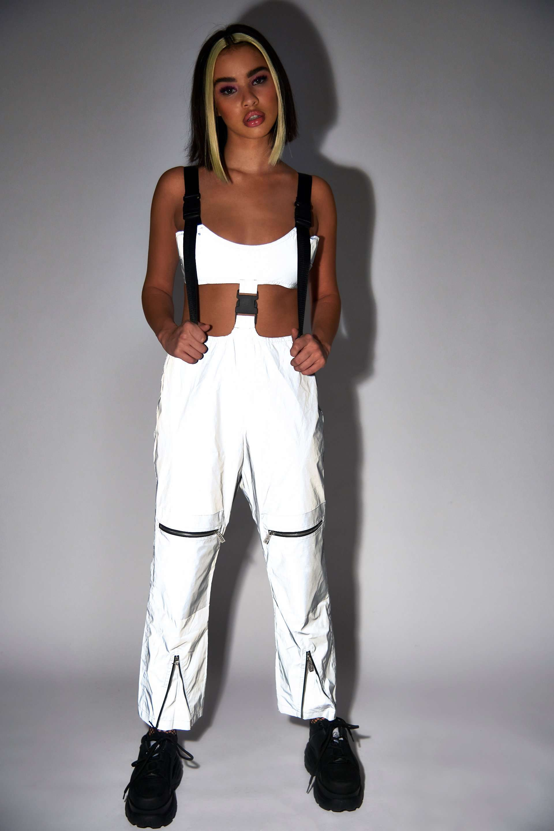 Reflective Cut Out Cargo Jumpsuit