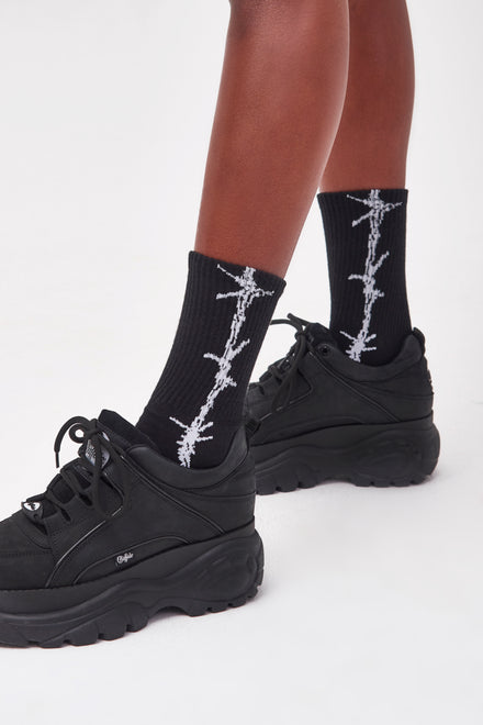 Black Barbed Wire Socks
