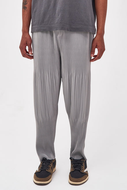Grey Pleated Trousers In Relaxed Fit