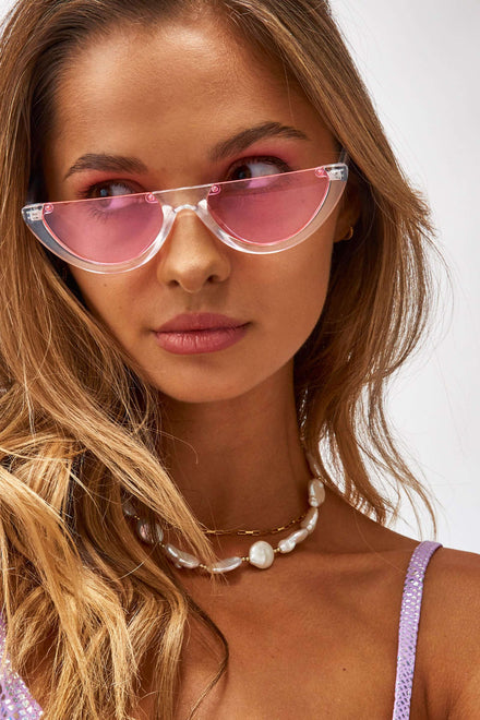 Pink Half Moon Sunglasses