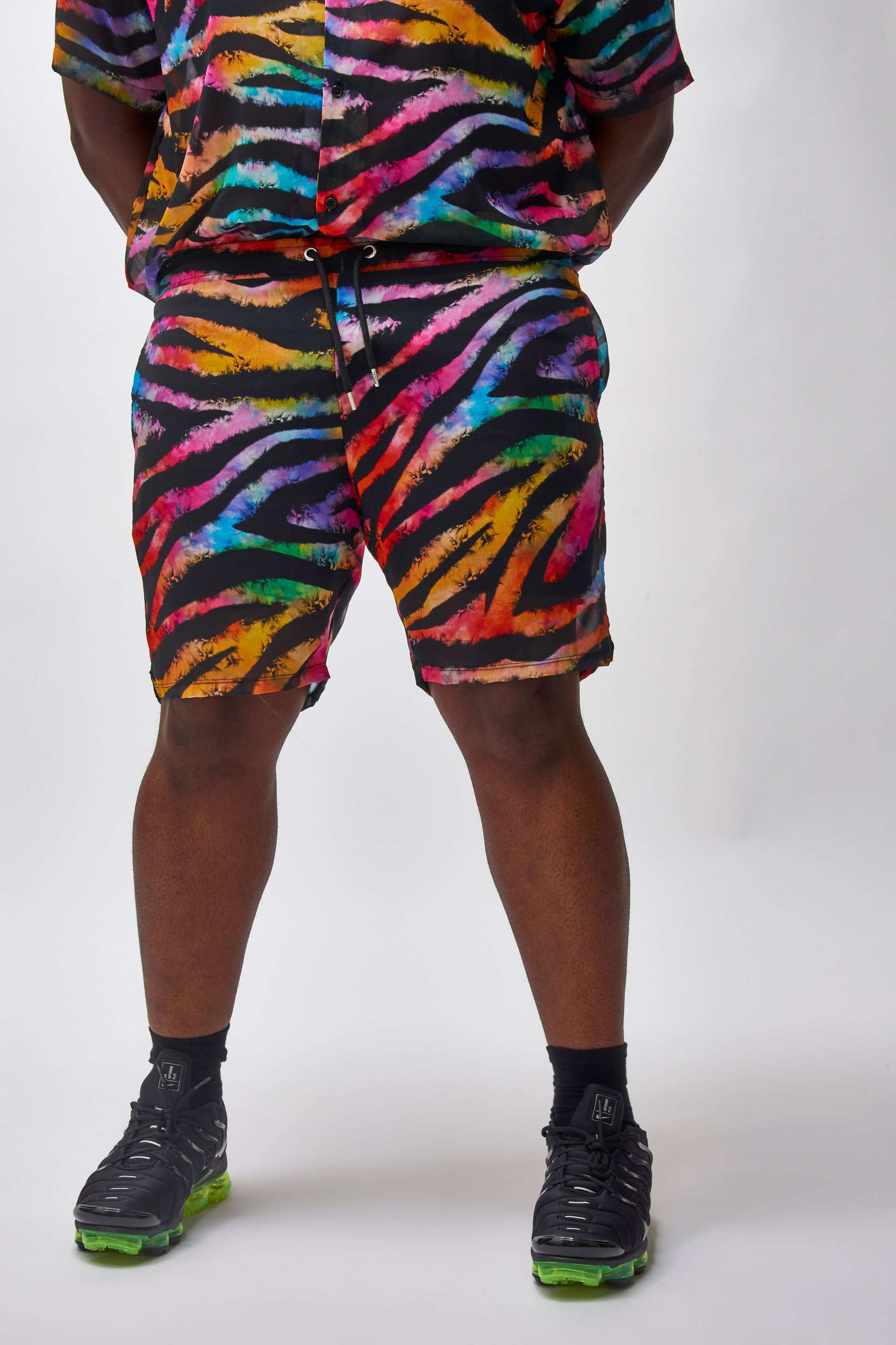 Extra Tiger Print Shorts In Sheer Fabric