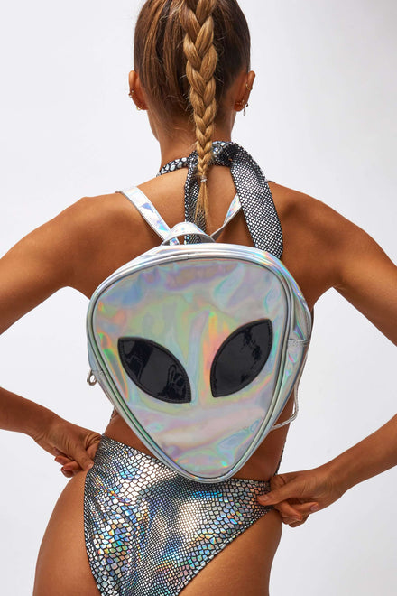 Holographic Alien Backpack