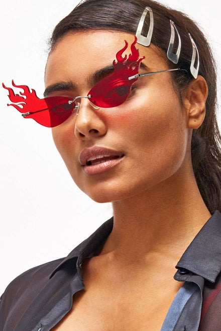 Want It All Red Flame Sunglasses