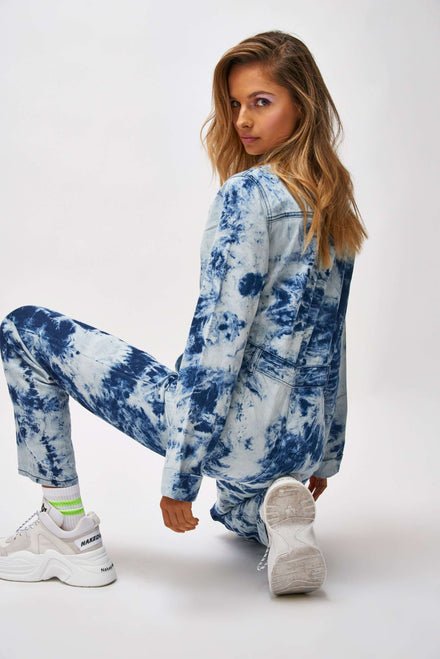 Acid Wash Blue Denim Boilersuit