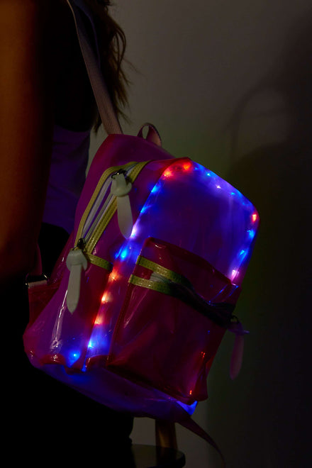 Neon Pink LED Bubble Bag