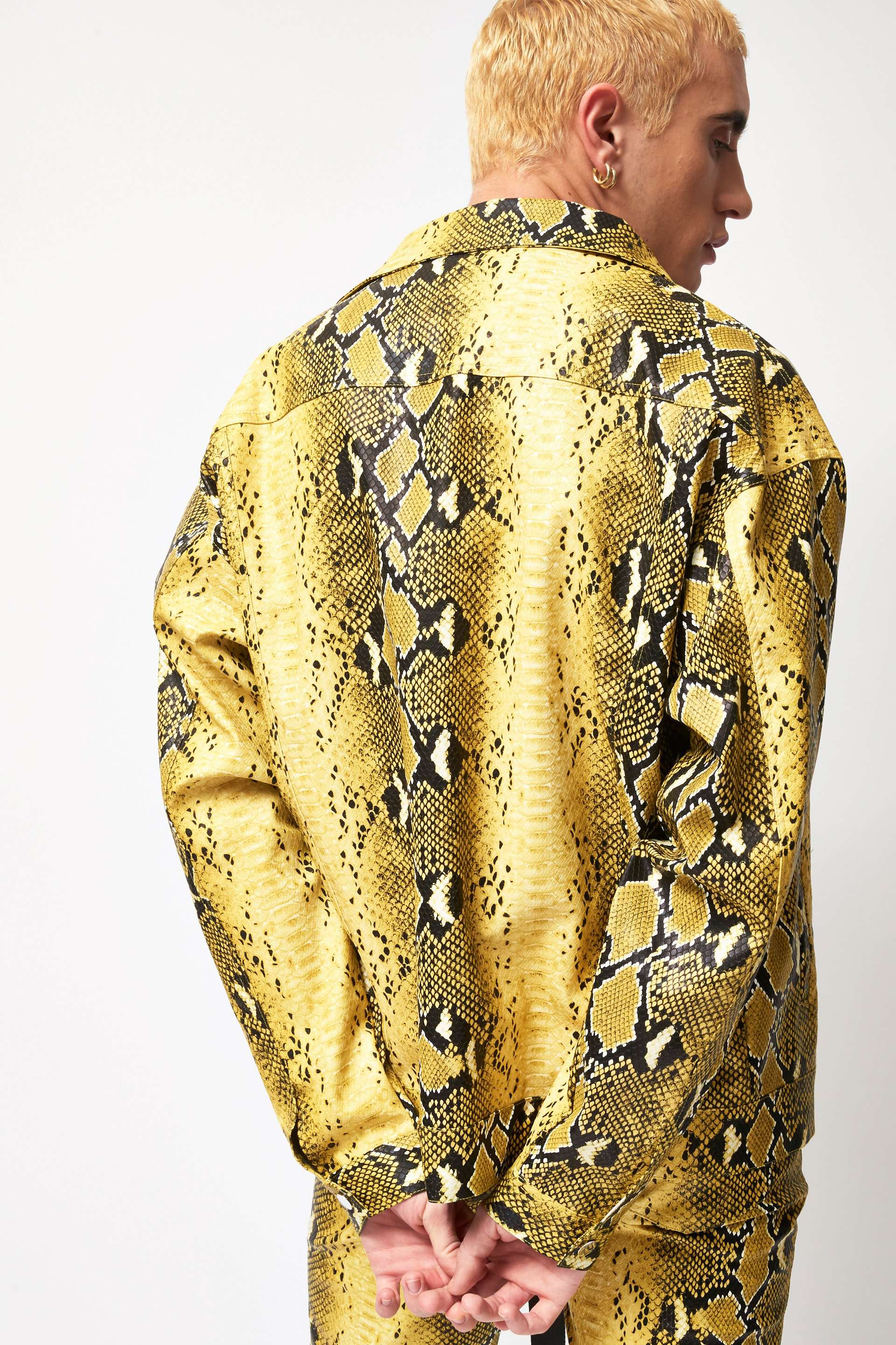 Pu Snake Print Yellow Jacket