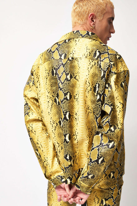 Pu Snakeskin Yellow Jacket