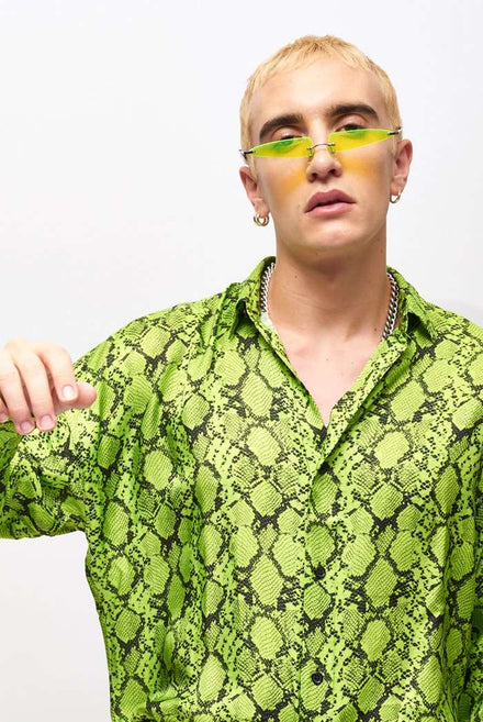 Want It All Neon Yellow Sunglasses