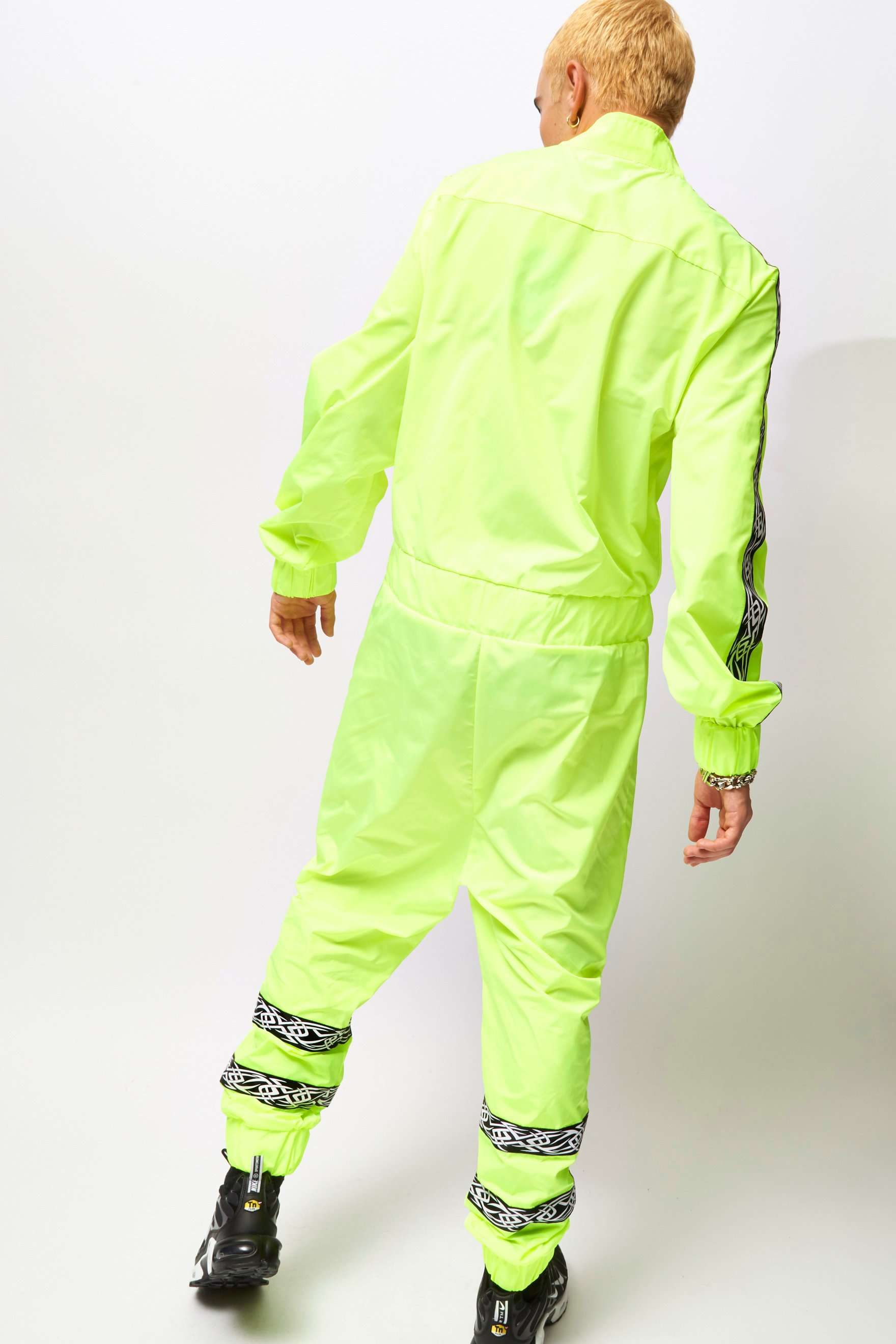 Reflective Boilersuit With Tattoo Taping