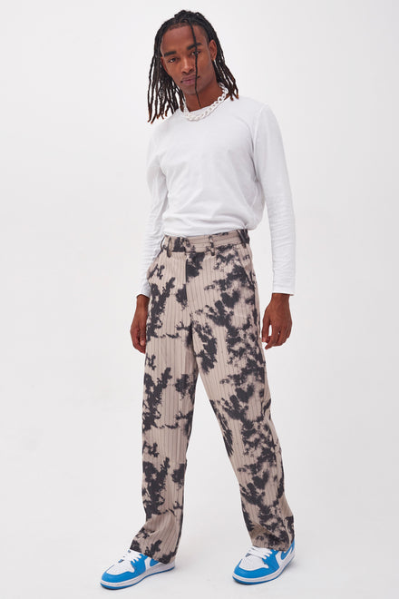 Bleach Pinstripe Relaxed Trousers