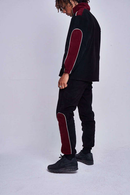 Burgundy Panel Fleece Joggers