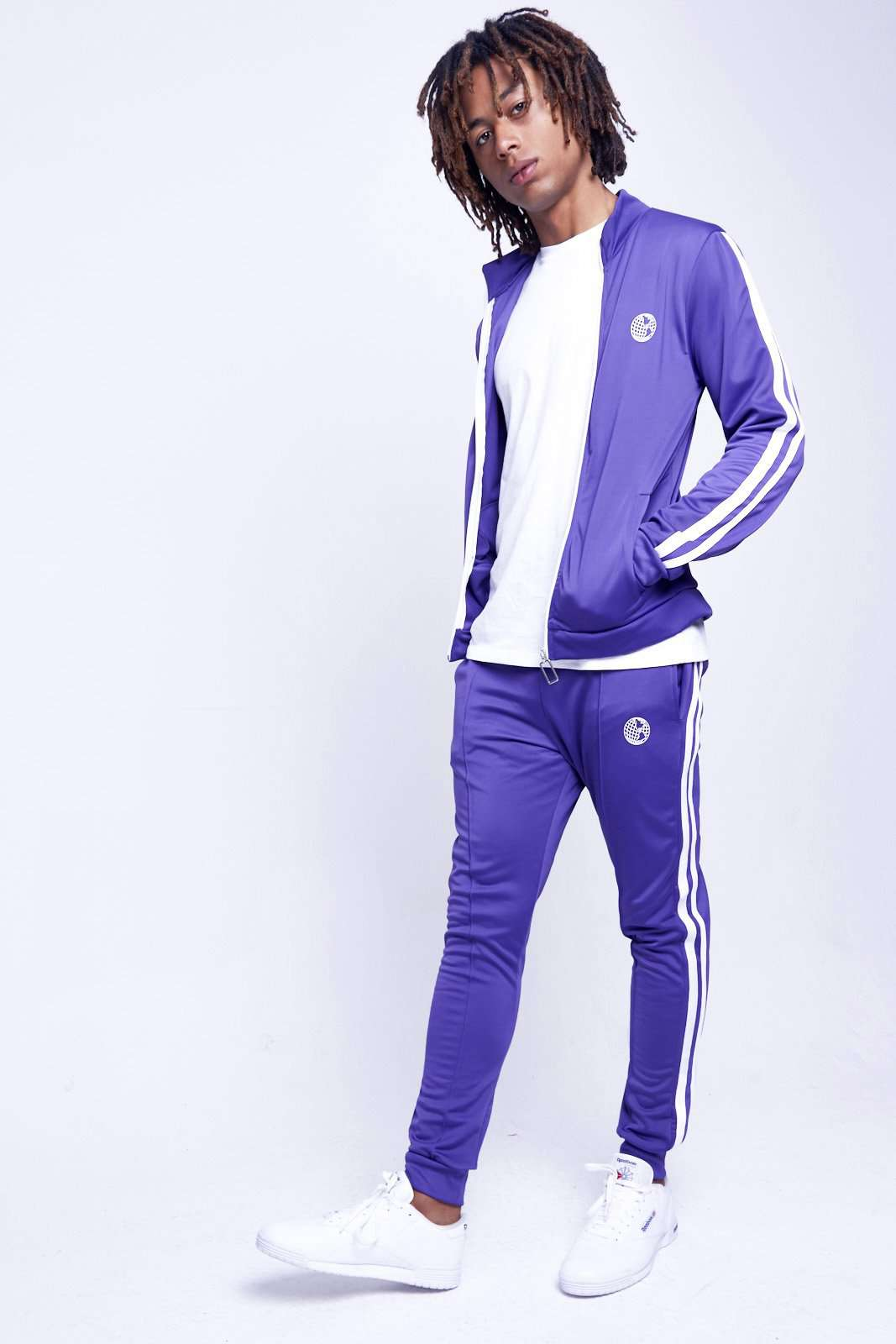 PURPLE TRACKTOP WITH TAPING