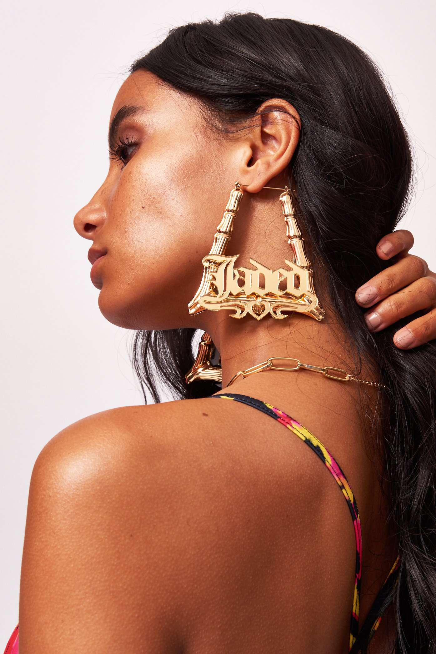 Amarachi Gold Jaded Earrings