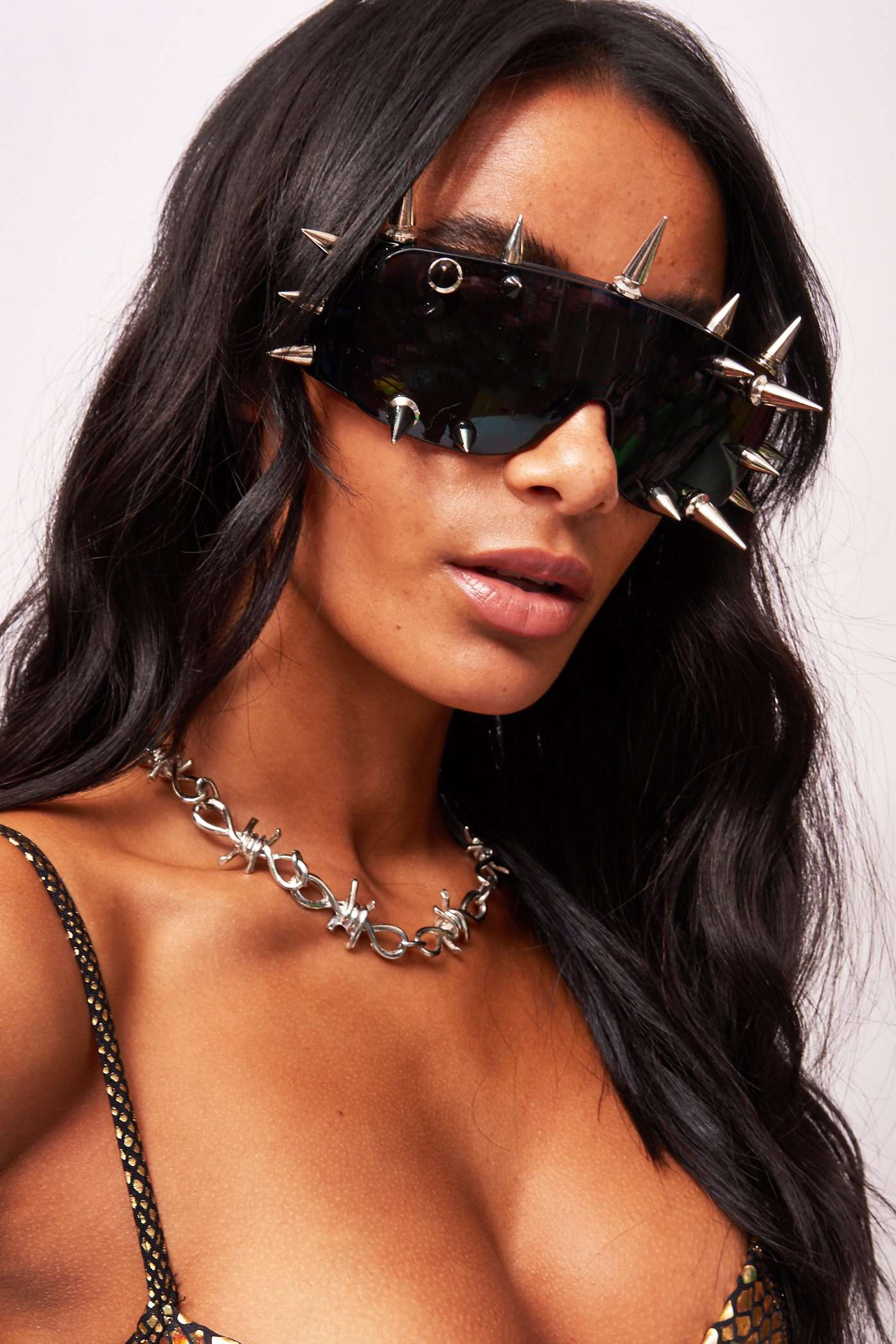 Black Spike Sunglasses