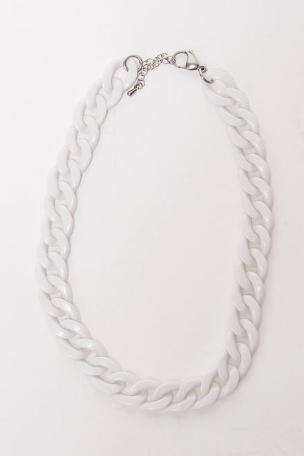 Feather Pendants White Chain