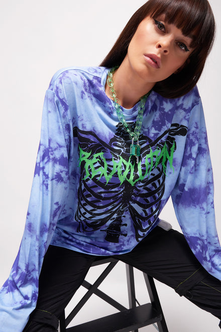 Skeleton Print Long Sleeve T-shirt