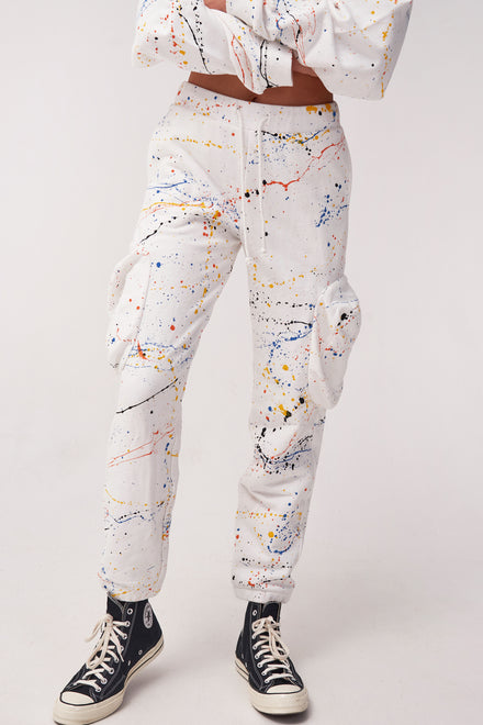Paint Splatter Cuffed Joggers