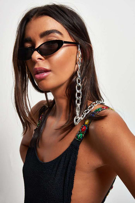 Silver Sunglasses Chain