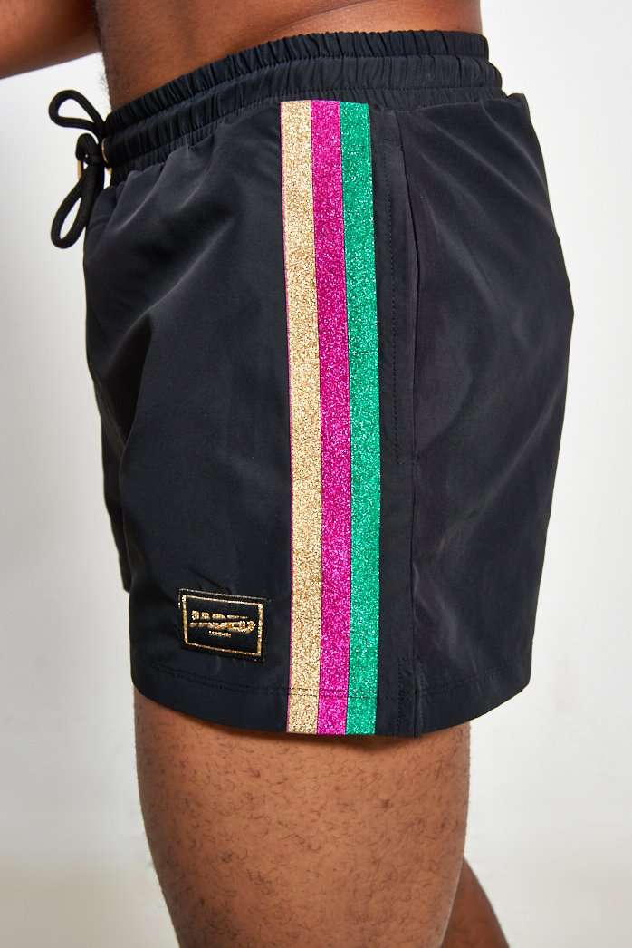 Black Swimshorts With Taping