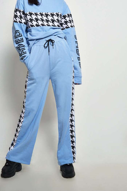 Baby Blue Dogtooth Joggers
