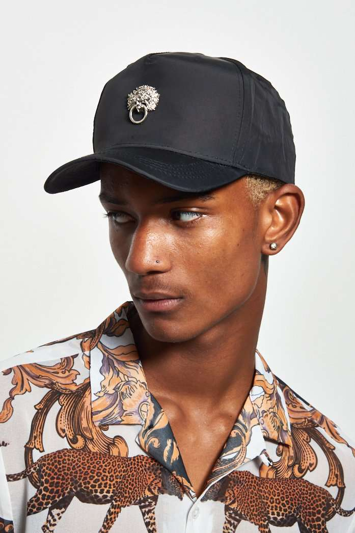 Black Lion Medallion Cap
