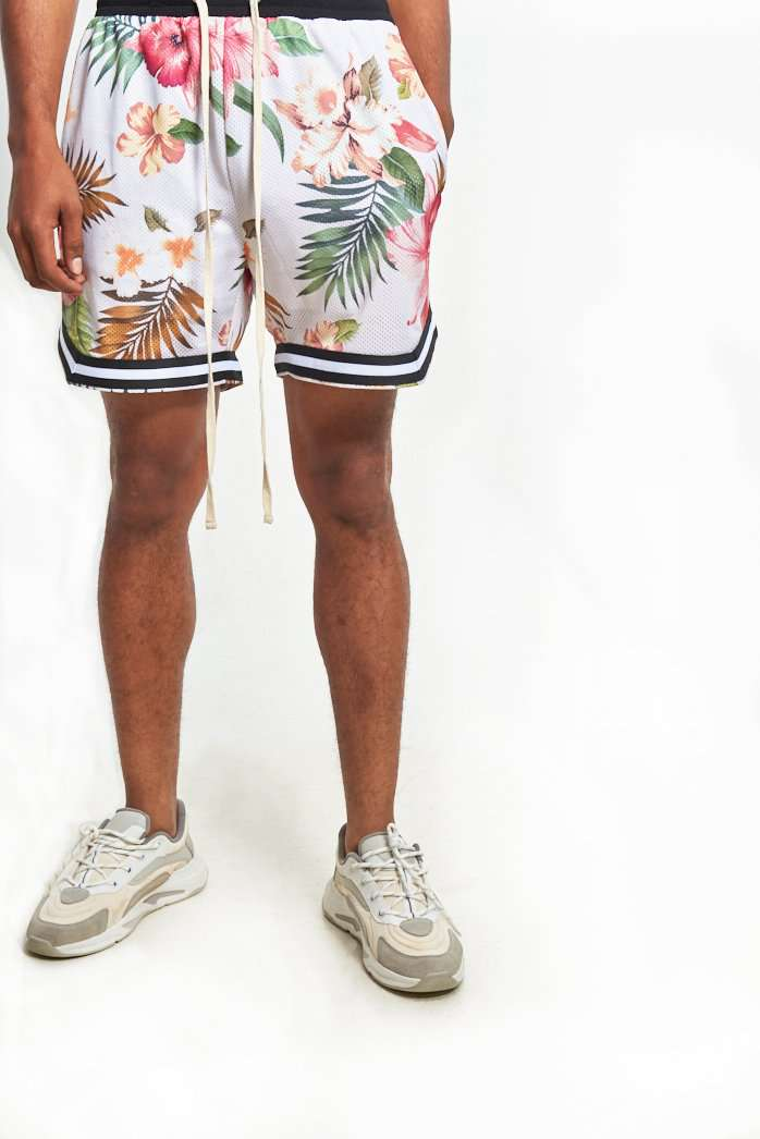 Granted Hawaiian Mesh Shorts