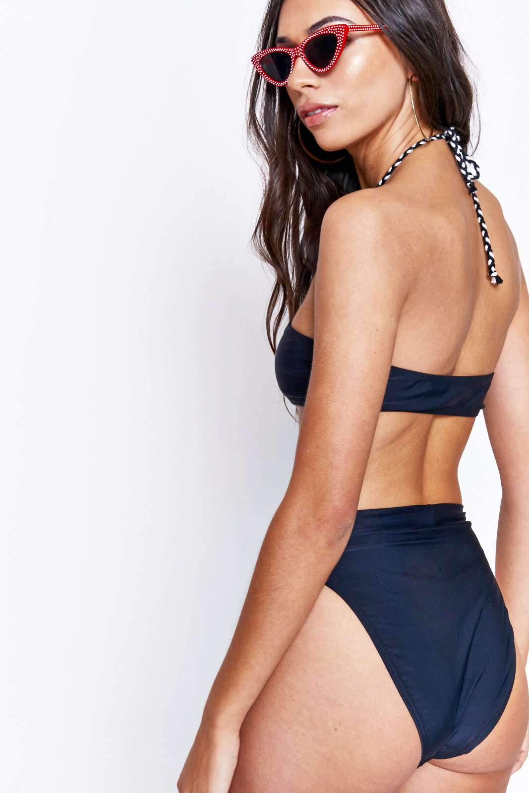 Diamante Eyelet Cut Out Bottoms