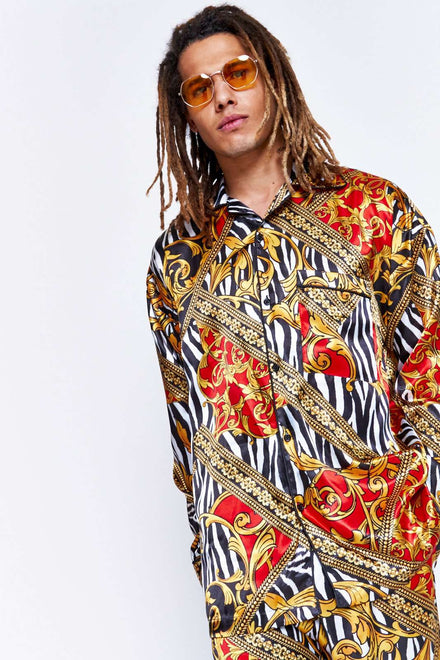 Zebra Baroque Satin Shirt