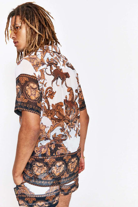 Baroque Chiffon Short Sleeve Shirt