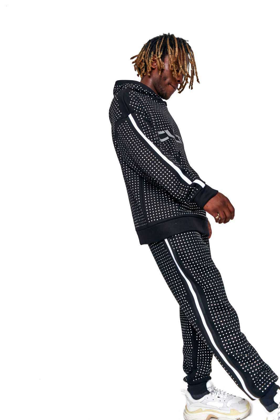 Granted Diamante Joggers With Reflective Side Stripe