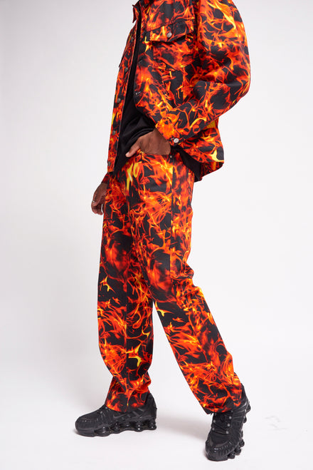 Flame Print Skate Jeans