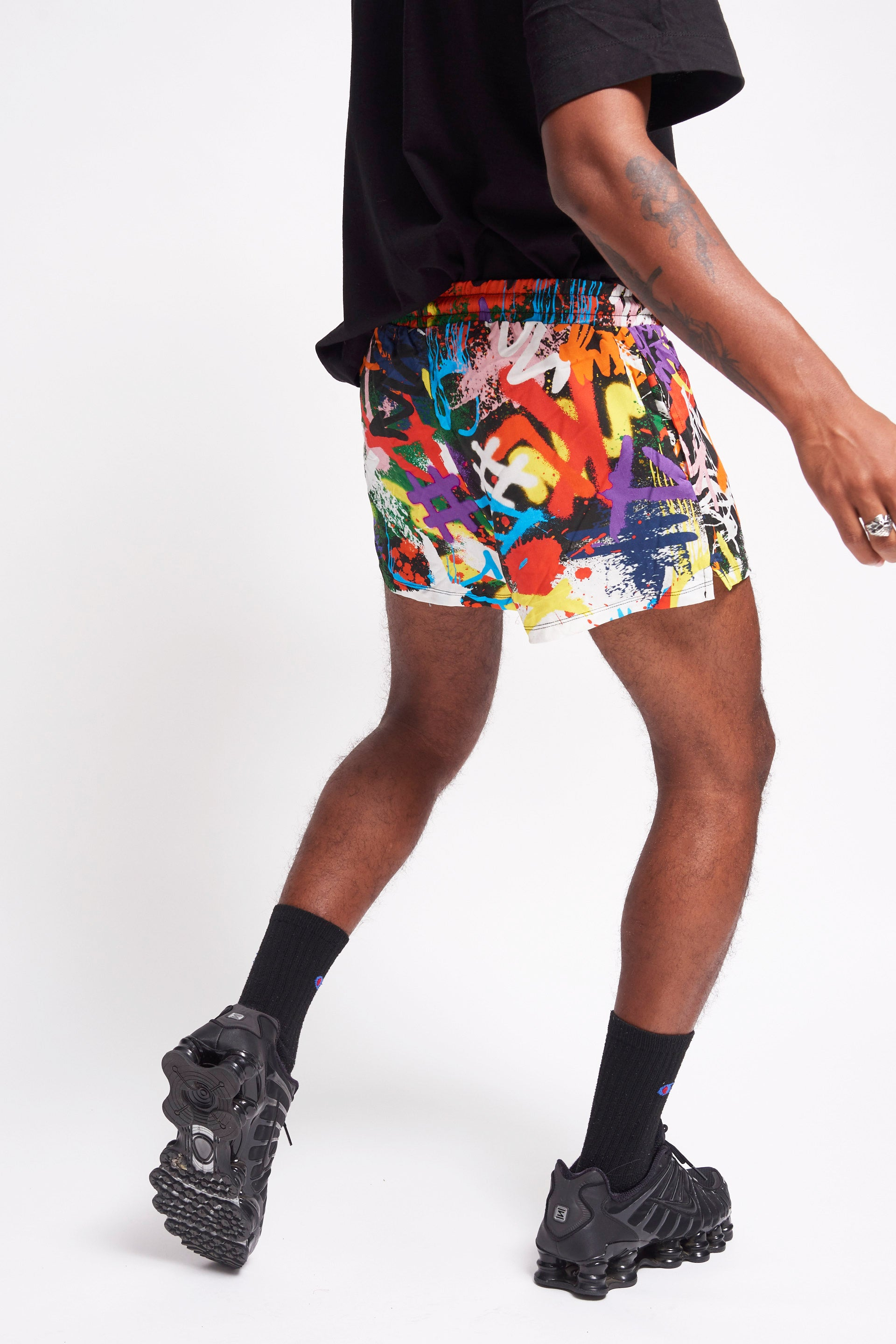 Graffiti Print Shorts