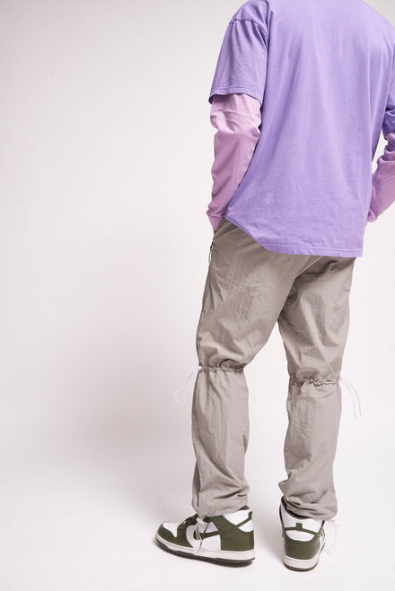 Technical Grey Jogger With Toggle Detail