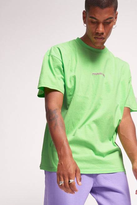 Parallel Green Embroidered T-Shirt