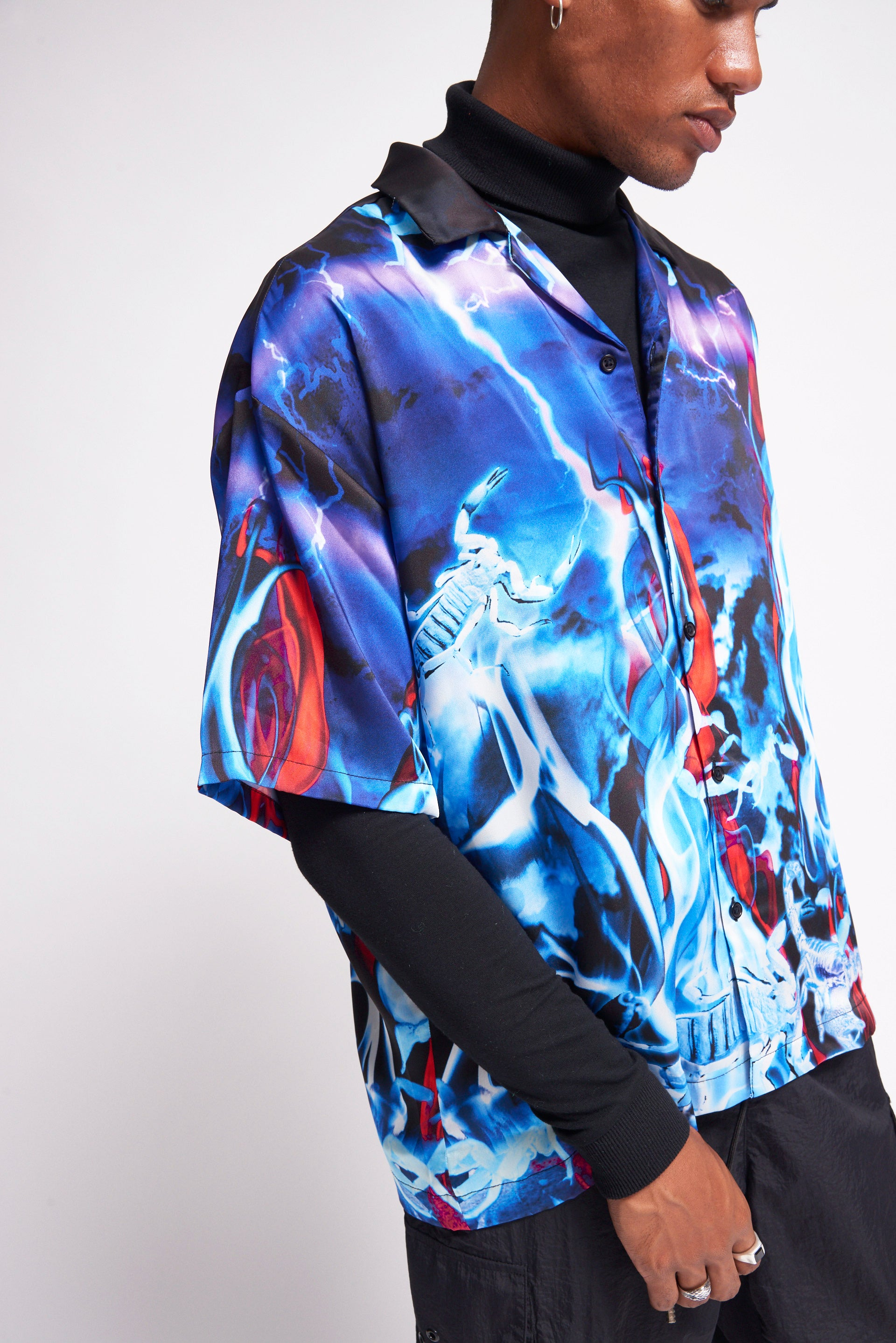 Lightning Scorpion Print Shirt