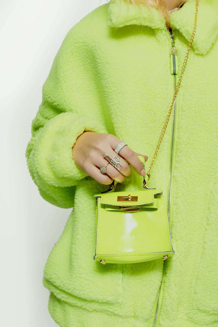 Neon Lime Mini Bag