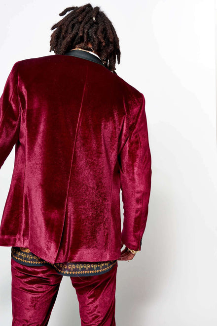 Red Velvet Suit Jacket