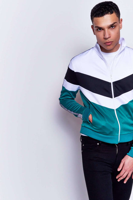 Green Panelled Tracktop