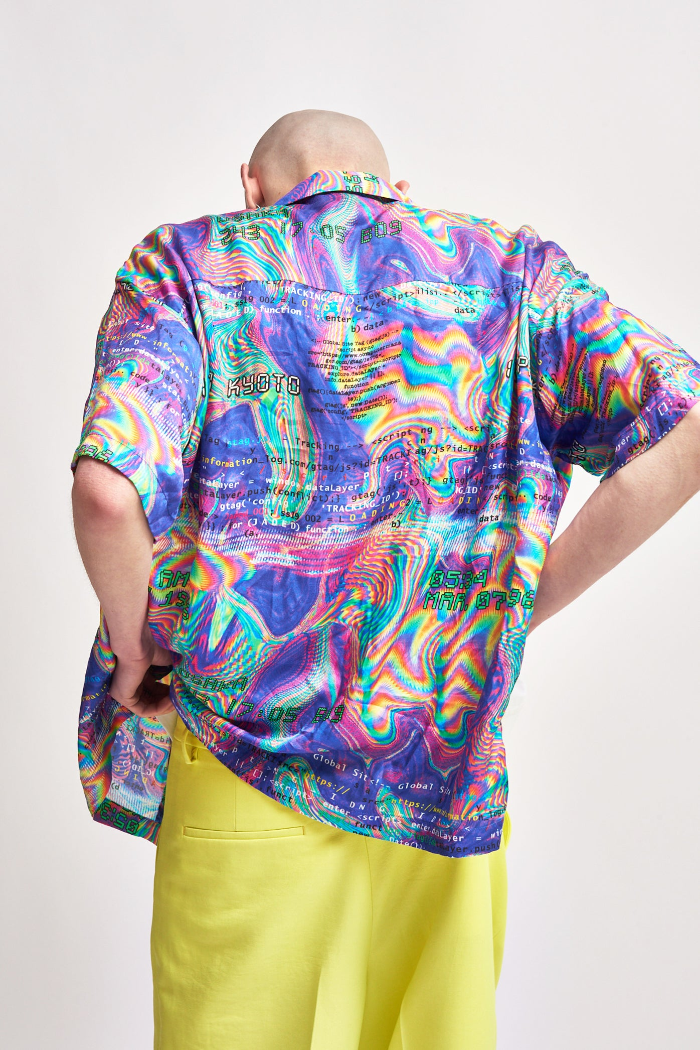 Glitch Print Short Sleeve Shirt