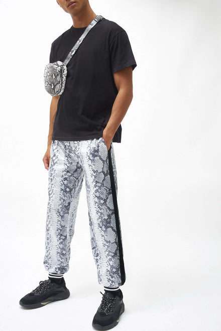 Snake Sequin Overlay Joggers
