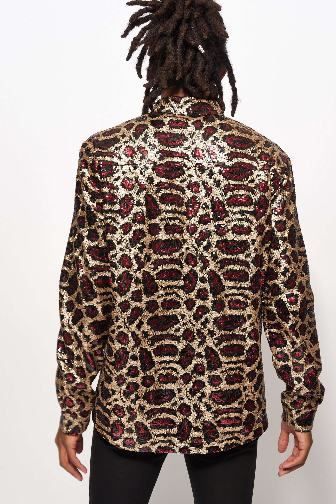 Snake Sequin Long Sleeve Shirt