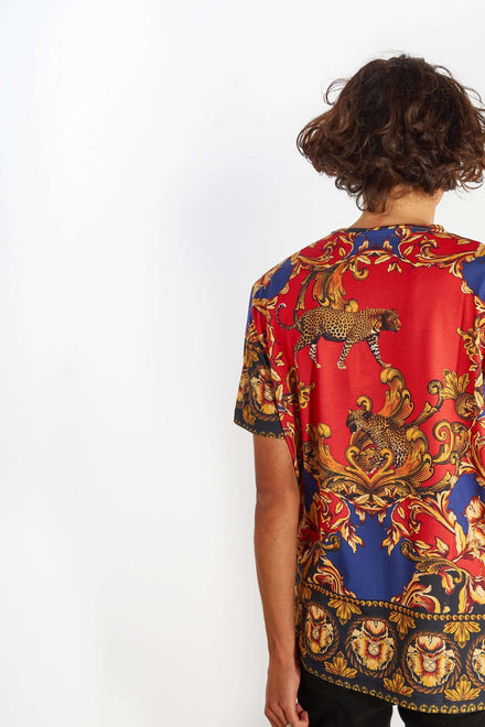 Red Leopard Baroque Tee