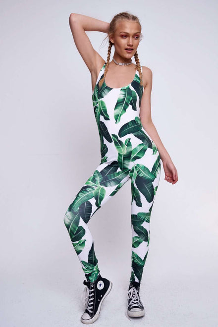 Palm Leaf Catsuit